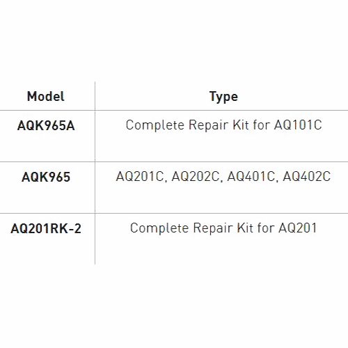 Repair Kit for Sweetwater Rocking Piston Air Compressor AQ201