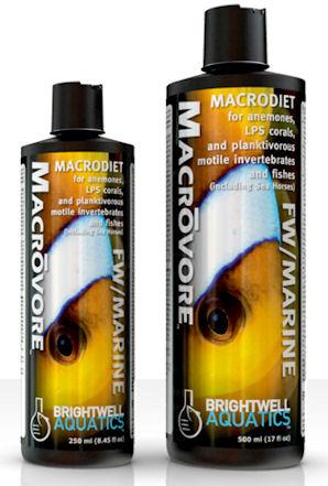 Brightwell Aquatics Macrovore, Macrodiet for Anemones, LPS Corals & Planktivorous Motile invertebrates & Fishes, 2 liter / 67.6 oz. by Brightwell Aquatics]