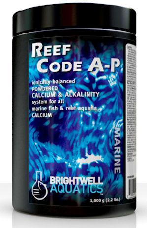 Brightwell Aquatics ReefCode A-P, Ionically Balanced Powered Calcium & Alkalinity, 1,000 gr. / 2.2 lb. by Brightwell Aquatics]