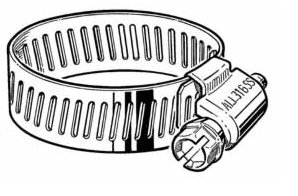 Stainless Steel Hose Clamp, 1.5