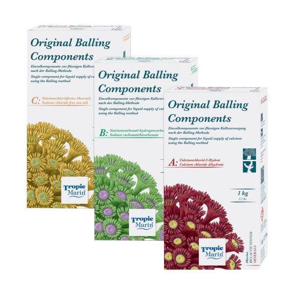 Tropic Marin BIO-CALCIUM ORIGINAL BALLING Salts,  ABC Dry Balling Set, 3kg.