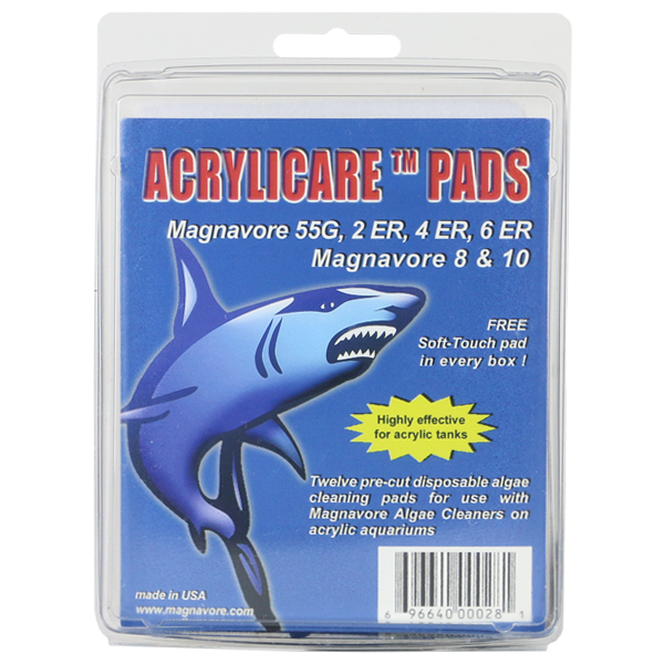 Acrylicare Pads, 12 pcs. for Magnavore 2, 4, 6, incl. ER models, 8, & 10 Magnetic Cleaners