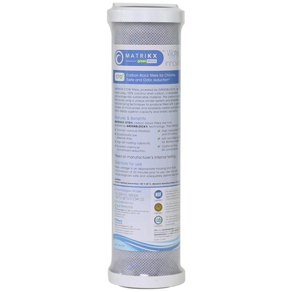 Matrikx +CTO Carbon Block Filter 5 micron, RO Reverse Osmosis 9.75
