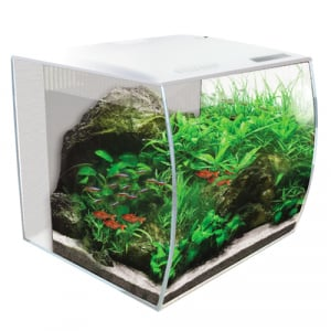 Fluval FLEX 57L Aquarium Kit, 15 gallon - White