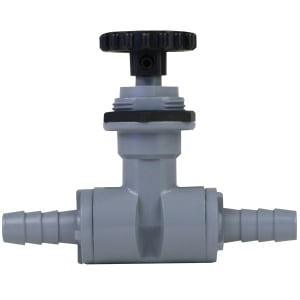 """Precision Needle Valve with 3/8"""" Barb Fittings"""