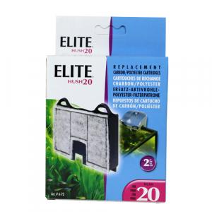 Elite Hush 20 Carbon Cartridge (2/Pack) by Hagen