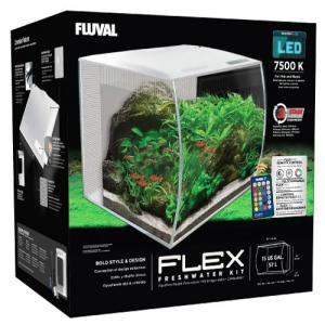 Fluval FLEX 34L Aquarium Kit - White - 9 Gallon