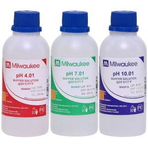 pH Calibration Solution Combo: 1 x pH 4.01Buffer Solution 220 ml 1 x pH 7.01Buffer Solution 220 ml 1 x pH 10.01Buffer Solution 220 ml