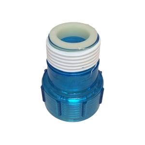 Aqua Ultraviolet Quartz Cap Clear Blue w/ Ring