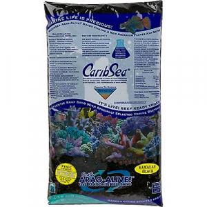 CaribSea Arag-Alive Hawaiian Black Live Sand, 20 lb.