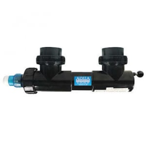 """Aqua UV Classic 8 watt Sterilizer 2"""" With Wiper - Black"""