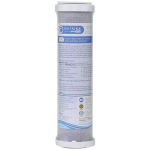 "Matrikx +CTO Carbon Block Filter 5 micron, RO Reverse Osmosis 9.75"" x 2.5"" Cartridge"
