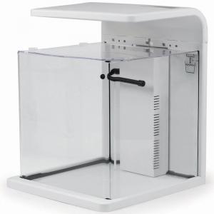 SR Aquaristik Desk Top All Glass Nano Aquarium - White - W/ Dimmable LED Lighting - 4 Gallon