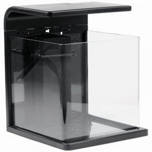 SR Aquaristik Desk Top All Glass Nano Aquarium - Black - W/ Dimmable LED Lighting - 4 Gallon