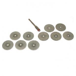 "1"" Diamond Coated Cutting Wheel Set, 10 Pcs."