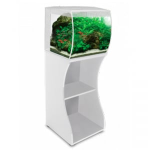 Fluval FLEX 57L 15 Gallon Aquarium Full Kit w/ White Stand