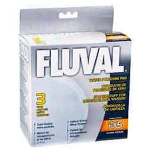 Fluval FX5 / FX6 FINE Water Polishing Pad, Blue (3/Pack)