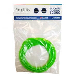 Simplicity Heavy-Duty Silicone Dosing Pump Tubing - Green/Red/Yellow 10 ft.