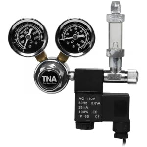 Professional Dual Gauge CO2 Regulator with Solenoid Valve and Bubble Counter - FMR-201