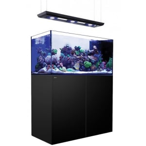 Red Sea Reefer Peninsula P500 Deluxe, 132 Gal. With 3X ReefLED 90 - Black