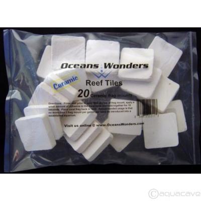 Ocean Wonders CERAMIC Coral Frag Tiles 20 pcs. by Ocean Wonders]