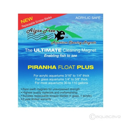 AlgaeFree Piranha Float Plus Magnet Algae Cleaner