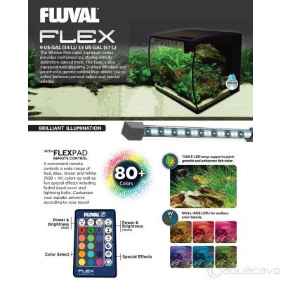 Fluval FLEX 57L Aquarium Kit, 15 gallon - Black