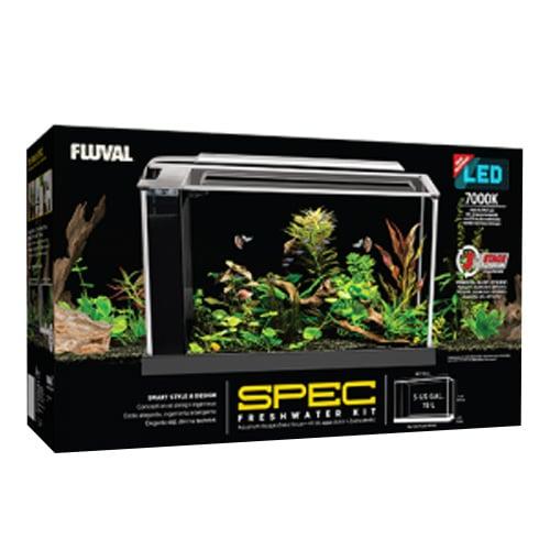 Fluval SPEC V Desktop Aquarium Kit - Black - 5 gal.