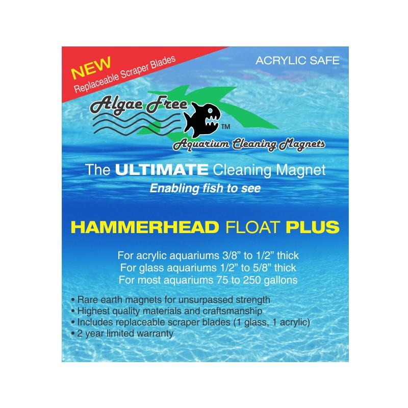 AlgaeFree Hammerhead Float Plus Magnet Algae Cleaner by AlgaeFree]