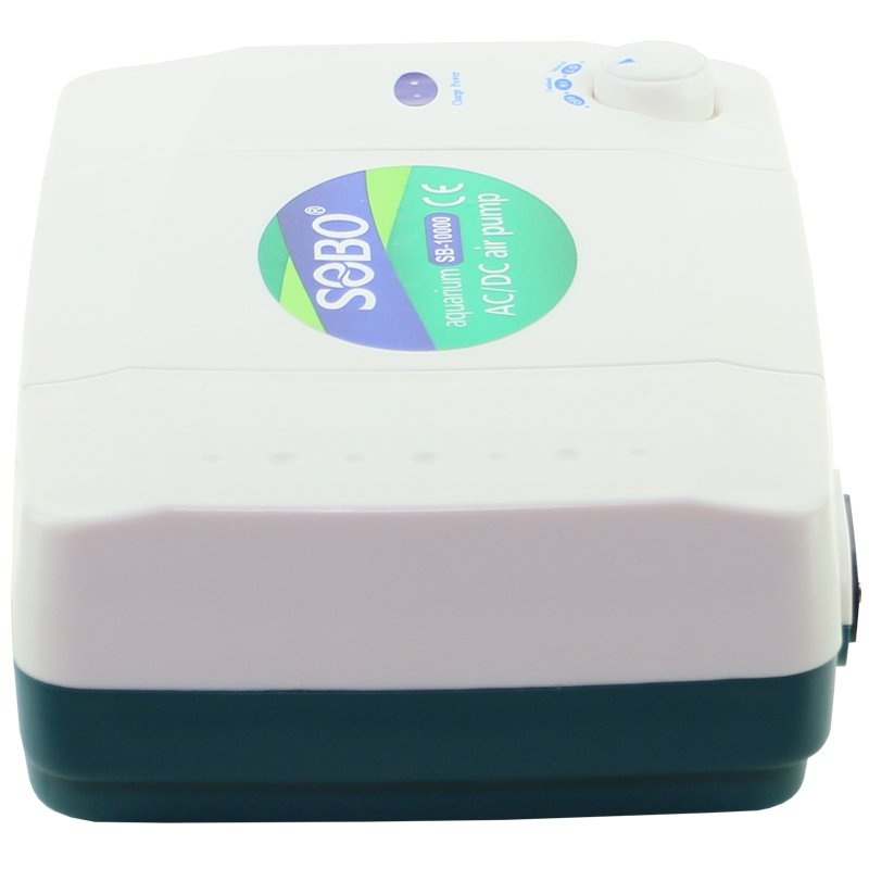 Dual Outlet Air Pump with Battery Backup by AquaCave]