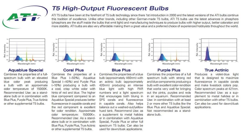 ATI Aquablue Special 12,000K  T5 Bulbs by ATI]