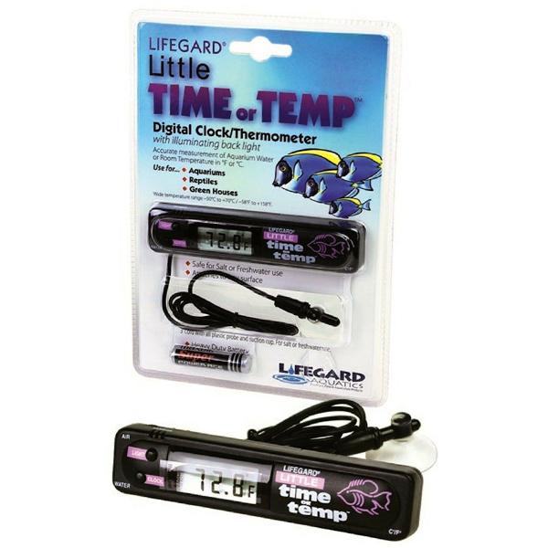Rainbow Lifegard Little Time Or Temp Aquarium Thermometer by Pentair Aquatics]