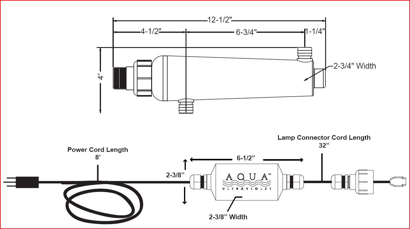 Aqua Ultraviolet 8 Watt Advantage 2000 In-Line UV Sterilizer by Aqua Ultraviolet]