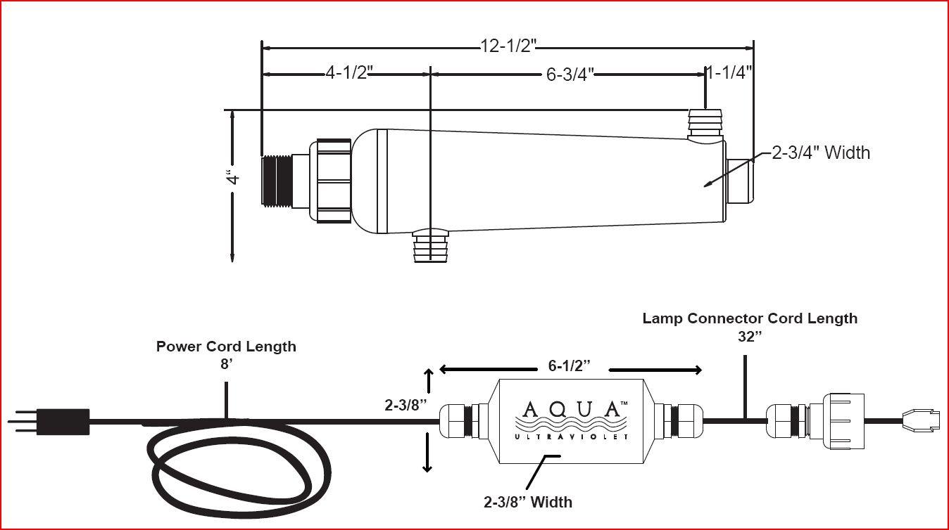 Aqua Ultraviolet 15 Watt Advantage 2000+ In-Line UV Sterilizer by Aqua Ultraviolet]