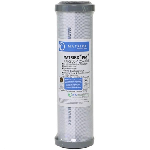 Matrikx +PB1 Carbon Block Filter 0.5 micron, RO Reverse Osmosis 9.75