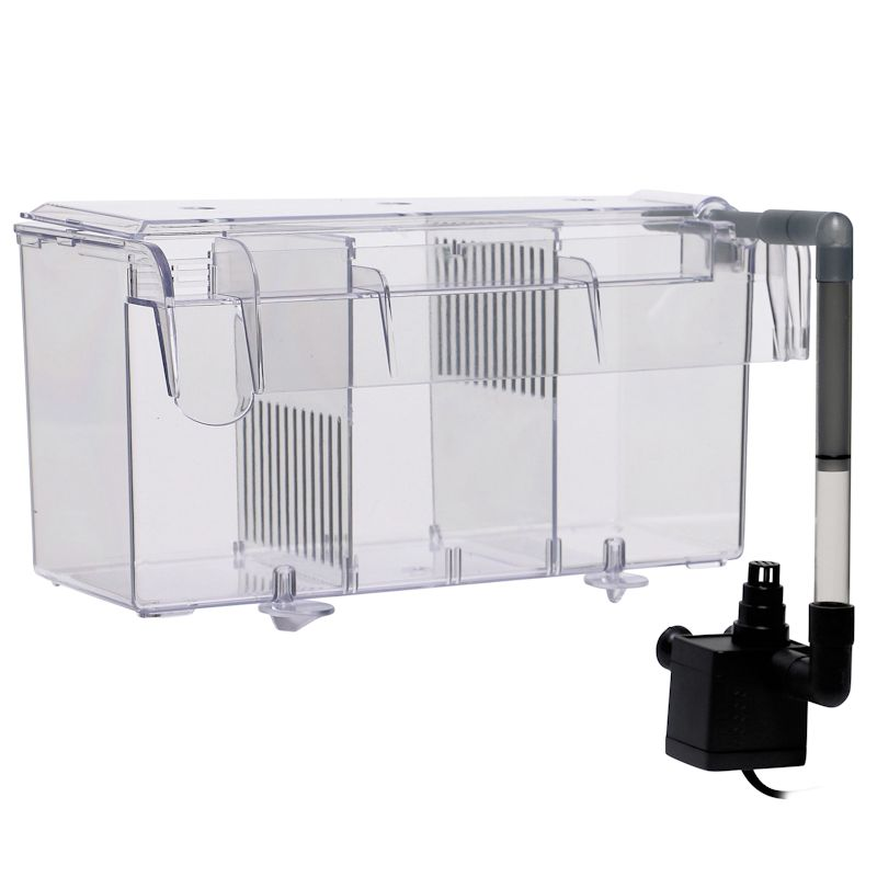 Finnex Hang-On-Back  Breeding Box - Refugium with Powerhead AND LED FugeRay Light Fixture by Finnex]