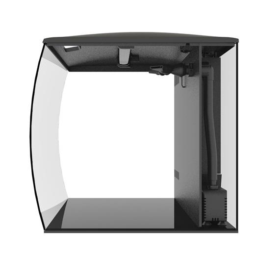 Fluval FLEX 57L Aquarium Kit, 15 gallon - Black by Hagen]