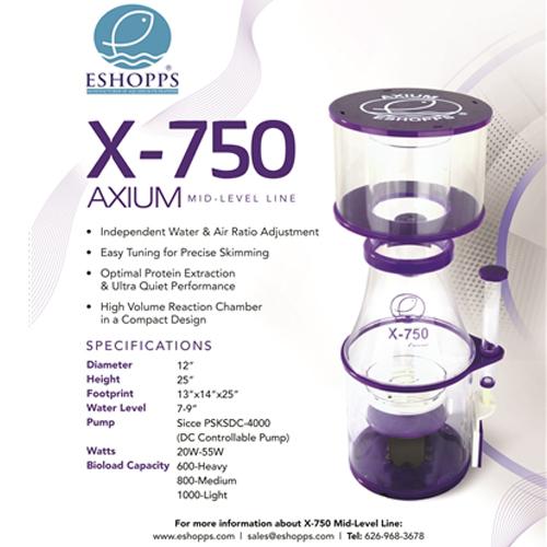 Eshopps Axium X-750 Skimmer w/ Sicce PSKSDC-4000 Controllable Pump by Eshopps Inc.]