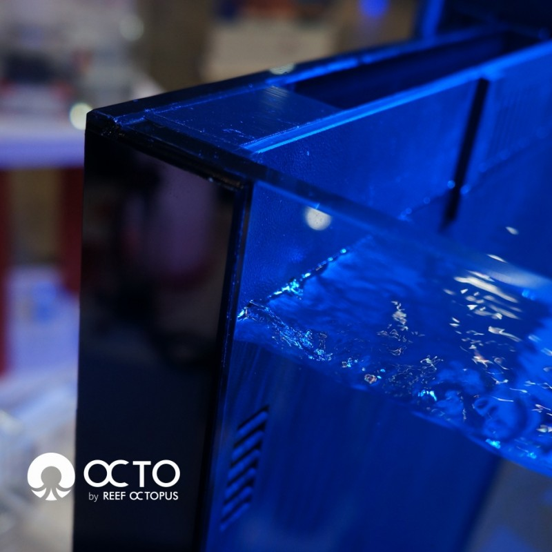 OCTO LUX 48gal Aquarium System with Black Cabinet by Reef Octopus]