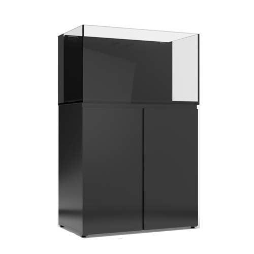 JBJ 65 gal. Rimless Flat Panel AIO Aquarium - Black - With Stand by JBJ]