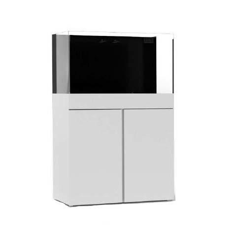JBJ 65 gal. Rimless Flat Panel AIO Aquarium - White - With Stand