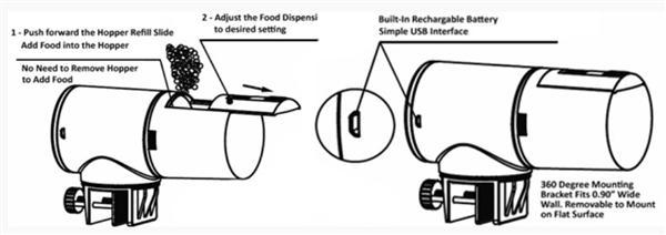 LifeGard Intelli Feed Fish Food Feeder