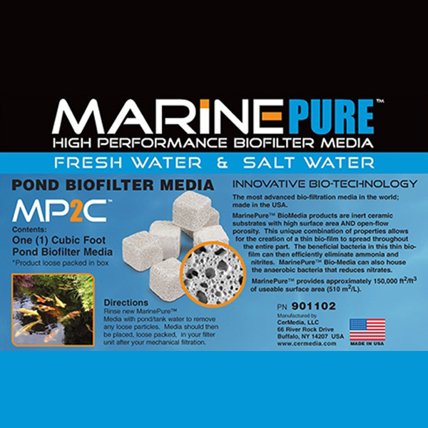 MarinePure High Performance Biofilter Media MP2C 1/2 CU FT by Marinepure]