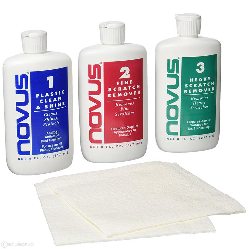 NOVUS Polish/Scratch Removal kit for acrylic, 3 x 2 oz.
