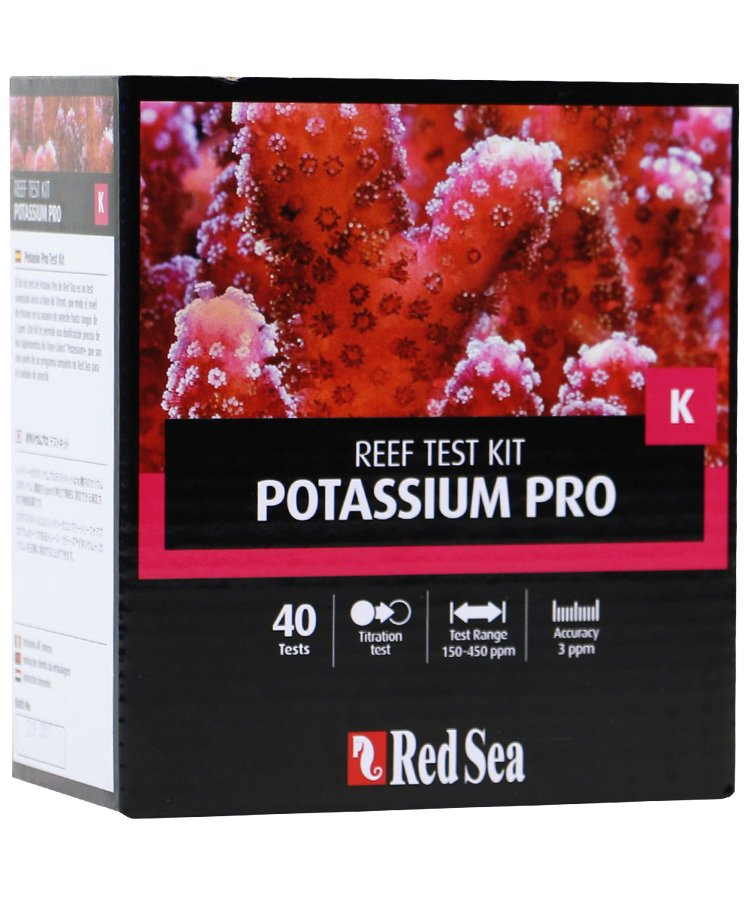 Red Sea Potassium Pro (K) - High resolution titrator Test Kit (40 tests) - incl. professional titrator