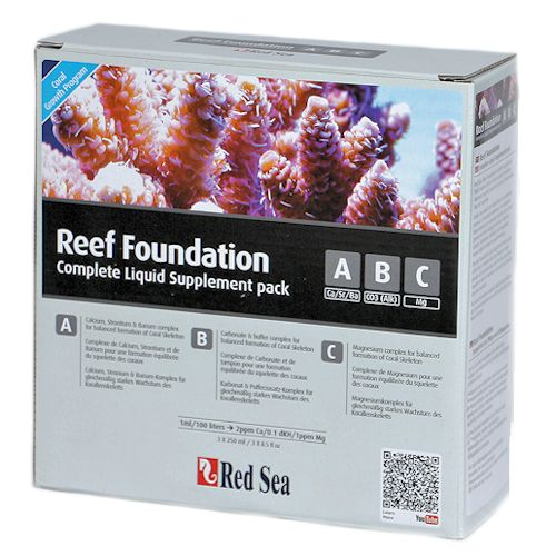 Red Sea Reef Foundation Liquid Starter Kit, 3 x 250 ml. by Red Sea]